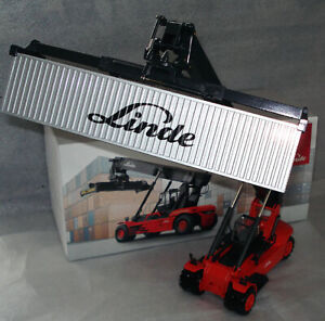 Blac CD:Linde Container Reach Stacker forklift truck fork lift + Metal cont. MiB