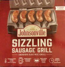 Johnsonville BTG0498 Sizzling SAUSAGE GRILL w/ Nonstick Plates ELECTRIC BRAT NEW