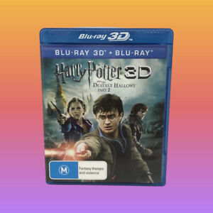 HARRY POTTER & The Deathly Hallows 2 Blu-ray Region B + 3D Very Good Condition
