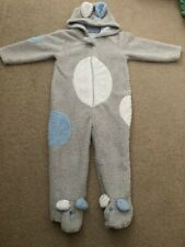 Mothercare All In One Fleece 18-24 Months Bear Pram suit