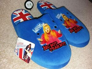 Gents / Ladies Little Britain Slippers - Brand New - BNWT - UK Size 7 / 8