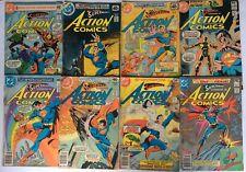 Vintage 80s Comic Book Lot of 50 Distressed Superman, Batman, JLA, Spider-Man