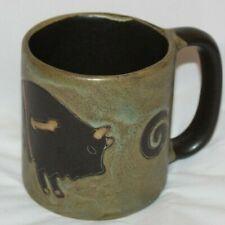 New listing Large Buffalo Coffee Mug Southwest Theme 16oz Mara Stoneware