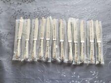 CHRISTOFLE MARLY 12 COUTEAUX DESSERT FROMAGE TRES BEL ETAT METAL ARGENTE 19.5cm