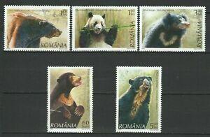 Romania 2008 Fauna Bears 5 MNH stamps