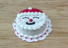 Dollhouse Miniature Jolly Christmas decorated Santa Cake by Bright deLights 1:12