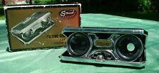 Vintage Sport Glass 2.5X Japan Folding Opera Glasses Binoculars w/ Original Box