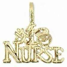 14K Gold Charm #1 Nurse Necklace Bracelet Jewelry Part