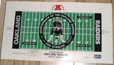 "Ken Stabler Oakland Raiders 30"" by 16.5"" NFL Football Lithograph - FREE SHIPPING"