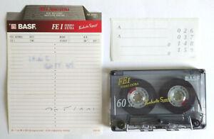 MC Musicassetta BASF Ferro Extra I FE 60 Vintage Compact Audio Cassette USATA 2°