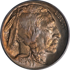 1913-P Ty 1 Buffalo Nickel PCGS MS66 CAC Sticker Superb Eye Appeal Strong Strike