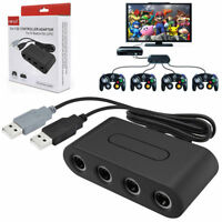4 Ports NGC GameCube Controller Adapter Converter For Switch Wii U & PC USB