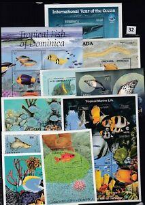 OH 10S/S - MNH - FISH - MARINE - REEF MARINE LIFE - WHOLESALE