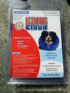 Kong Cloud Plush Inflatable Protective Post Surgery Dog Collar Medium Washable