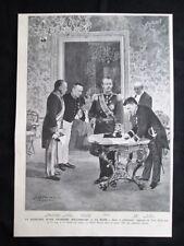 Principessa Giuliana d'Olanda: Regina Guglielmina,Principe Henri Stampa del 1909