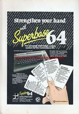 "Superbase 64 ""Vintage Commodore 64 Hardware"" 1983 Magazine Advert #5065"
