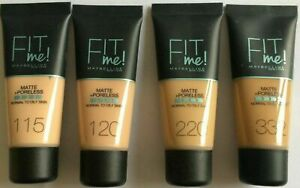 Maybelline Fit Me! Matte Poreless Foundation Normal-Oily 30ml - Choose Shade: