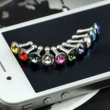Hot Selling Crystal 3.5Mm Dust Plug Earphone Jack For Iphone 6 Plus 5S 4S Random