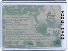 1/1 SIMEON RICE ROOKIE ILLINOIS BIG TEN 1996 Pacific Printing Press Plate 1 of 1