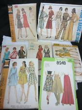 vintage 60s/70s 7 sewing patterns dresses palazzo pants pantsuit sz 6 8 10 12