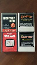 Lot of 4 Used Atari/Coleco Games Mountain King, Freeway, Mouse Trap, Carnival