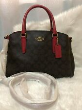 AUTHENTIC COACH SAGE CARRYALL IN SIGNATURE CANVASS HANDBAG