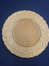"MIKASA Flower Basket Topaz  Round Platter Chop Plate Charger 12 3/4"""