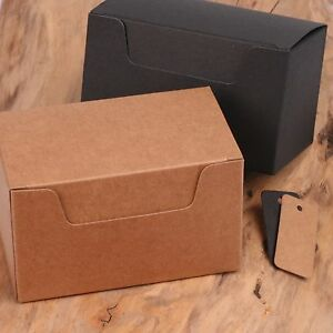 ECO KRAFT Small Natural GIFT BOXES Wedding Favour Chocolate Box | FREE Tags