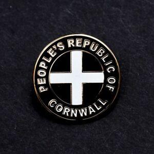 CORNWALL - PEOPLE'S REPUBLIC OF CORNWALL - ST PIRAN FLAG BADGE             (C3)