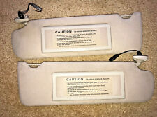 89-97-Jaguar-XJ6-XJ12 Sun-Visors SHADES-w-LIGHTED Vanity MIRRORS Beige