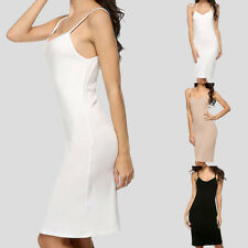 Women Sexy Long Dress Vest Camisole Spaghetti Strap Top Slip Pajamas Under Dress