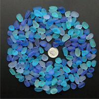 Sea Beach Glass Beads Mixed Color Bulk Blue Purple Jewelry Pendant Decor 10-16mm