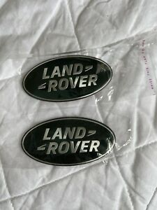 2x New  Land Rover Grill Badge Sticker 86mm Custom Green Silver
