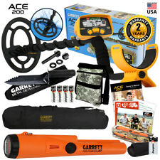 Garrett Ace 200 Metal Detector with Waterproof Coil Pro Pointer At and More