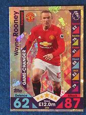 Match Attax Trading Card - 2016/17 - Wayne Rooney - Manchester Utd -Game Changer
