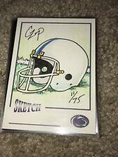 2006 TK Legacy Penn State Football Helmet Sketch Card #'d 11/75