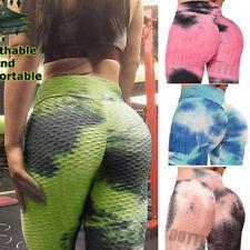 Womens High Waist Yoga Pants Anti-Cellulite Gym Fitness Push Up Workout Legging