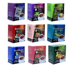 Mlesna 100% Pure Ceylon Black Tea Flavored Natural Luxury 10 Wrapped Tea Bags