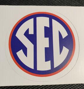 "FLORIDA GATORS SEC Logo Sticker Decal 2.8"" Orange & Blue - NCAA - Free Shipping"