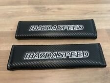 2X Seat Belt Pads Carbon Gifts Mazda 2 3 5 6 8 Speed mx rfc cx rx sport turbo td