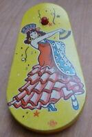 Vintage US Metal Toy Co Spanish Lady Tinplate Rattle