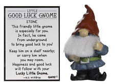 Little Good Luck Gnome Stone Gnome Figurine w/ Story Card