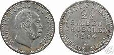 Allemagne, Prusse, Guillaume I, 2 1/2 silbergroschen, Berlin, 1864 - 2
