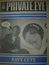 PRIVATE EYE MAGAZINE No 507 MAY 22 1981 MARGARET THATCHER - NAVY CUTS