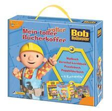 ✐ Bob der Baumeister Bücherkoffer Malbuch Bilderbuch Lernbuch Puzzle Stifte NEU✎