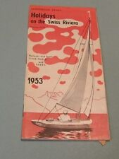1953 Holidays on the Swiss Riviera Railway and Boat Timetable Travel Brochure