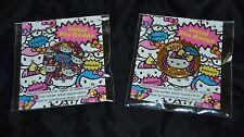 Lot of 2 KAWAII! Sanrio Hello Kitty Pins Badges Buttons NIP Sealed! 1 inch dia.