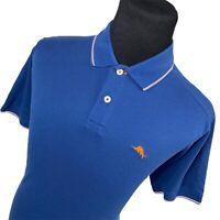 Tommy Bahama Island Modern Fit Blue Short Sleeve Golf Polo Shirt Mens Large L