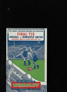 ARSENAL V NEWCASTLE UNITED 3-5-1952 FA CUP FINAL