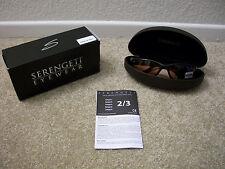 e913a84249 New Men s Serengeti 6758 Sunglasses Photochromic BROMO Shiny Black Drivers  Lens